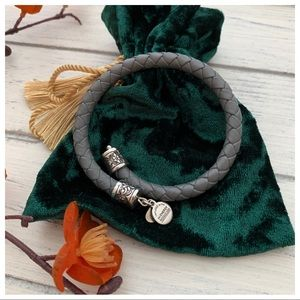 Alex and Ani Vintage 66 Braided Leather Wrap